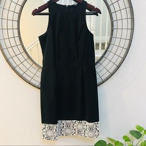 Ann Taylor black fitted dress w/white lace size 4T